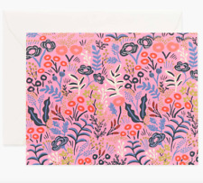 """Rifle Paper Co. """"TAPESTRY VIOLET"""" Everyday Greeting Card & Envelope, Blank"""