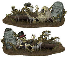 DOOMED BRIDE & GROOM Scene Setter Halloween Party wall decoration kit 10' graves