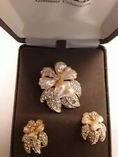 Rare Nolan Miller Flower Brooch & matching Earringss