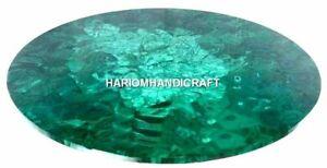 "48"" Marble Round Coffee Table Top Malachite Mosaic Home Decor"