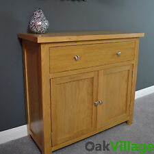 Oak Sideboard Small Mini  / Oak Cupboard / Solid Wood / Storage Dresser Oakley