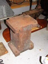 Vintage Blacksmith Anvil Block Stand 220 pounds 11 x 9 x 15 Stake Holder RARE