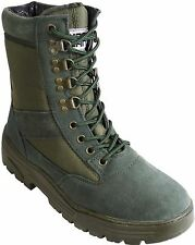 Green Army Patrol Combat Boots Tactical Military Hiking Airsoft Suede 912