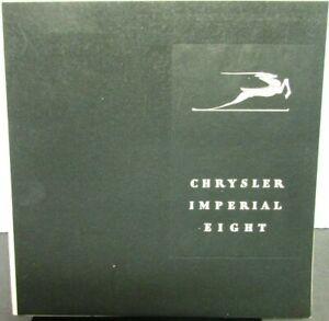1931 Chrysler Imperial Eight Color Sales Brochure Catalog Original
