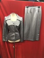 """LILY&TAYLOR SKIRT SUIT/GREY/NEW WITH TAG/RETAIL$199/SIZE 10/SKIRT LENGTH 32""""/"""