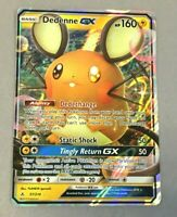 Pokemon Dedenne GX Ultra Rare Sun & Moon Unbroken Bonds Card 57/214 NM