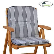 Auflagen für Sessel Stuhl niedrig Niederlehner Niedriglehner Kissen in grau
