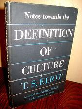 1st Edition DEFINITION OF CULTURE T.S. Eliot ESSAYS Nobel Prize CRITICISM Rare