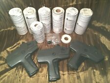3 Monarch 1110 Pricing Guns W/ 6 Nos White Label Roll Sleeves Of 16 + 12 & 1 Ink