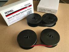 2 Pk Vintage Portable Manual Royal Typewriter Spool Ribbon Black Red Amp 1 Black