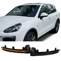DYNAMIC SMOKED LED MIRROR INDICATORS REPEATERS FOR PORSCHE CAYENNE 92A 2014-2017
