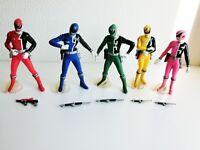 Bandai Dekaranger Deka Ranger Candy Toy Soft Vinyl 5 set Figure 14m F/S Japan