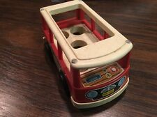 VINTAGE FISHER PRICE LITTLE PEOPLE MINI BUS #141 1969