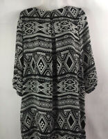H&M Women's Black/white Printed Long Sleeve Lined Dress Size 10