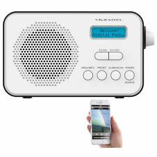 DAB Radio: Mobiles Akku-Digitalradio mit DAB+ & FM, Wecker, Bluetooth 5, 8 Watt