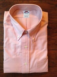 NWOT Brooks Brothers The Original Polo Shirt 18 37 Pink Check Chambray $95