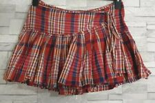 Tutu Mini Skirt Size 8-UK Red Tartan/Check Flouncy Multi Lined Short Casual VGC