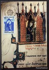 Yt 2366 ADAM DE LA HALLE   FRANCE  Carte Postale Maximum