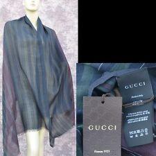 GUCCI Authentic New Designer Womens Shawl Scarf Wrap wool silk