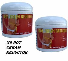 X2 HOT CREAM REDUCTOR CREMA REDUCTORA 4oz American LIPO-GEL  burner GRASA fat