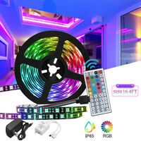 10M RGB 5050 LED Strip Lights Colour Changing With 44Key Remote Power Supply 12V
