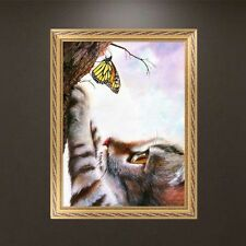 DIY 5D Diamond Embroidery Painting Cat Carch Butterfly Cross Stitch Home Decor