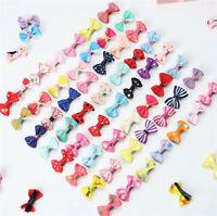 10Pcs Kids Baby Girls Bow Hair Clip Children Toddler Flowers Hair Accessories