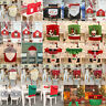 Christmas Xmas Chair Cover Santa Claus Snowman Elk Party Hat Dinner Table Decor