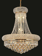 World Crystal Bangle 20x26 14 Light Crystal Chandeliers lighting Gold Dining