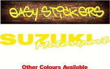 300mm Suzuki Racing Sticker Bike Motocross Car Ute Windscreen MX Trailer Truck