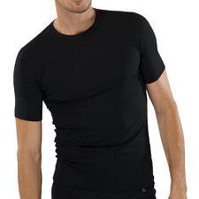 Schiesser Shirt Kurzarm, 3er Pack, Rundhals, 95/5 Reihe, Gr. S-XXL, Schwarz
