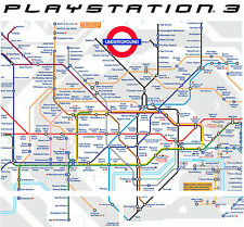 PLAYSTATION 3 PS3 Metro de Londres Mapa Pegatina Vinílica PROTECTORA