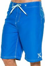 Hurley Men Swimwear Blue Size 33 Board Shorts Tie-Front Logo Embroidered $40 201