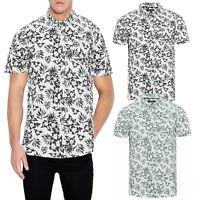 Brave Soul Zarb Mens Designer Cotton Short Sleeve Shirt Enzyme Wash Hawaiian Top