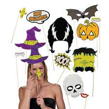 "12 tlg.Party Foto Verkleidung Krusel Photo Booth Props Set ""Halloween"""