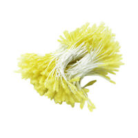 300pcs Artificial Flower Stamens Double Buds for DIY Hair Accessories Yellow