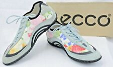 Ecco Vibration Flower Womens EUR 37 US 6-6.5 Floral Lace Up Walking Shoes P137