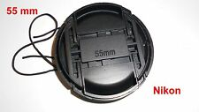 55 mm Compatible Nikon Lens Cap Pinch Type LC-55