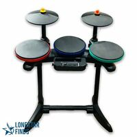 Nintendo Wii Guitar Hero World Tour Band Drum Kit Set With Cymbals No Pedal