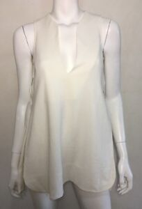 BNWT ~ LXE' cream silk lined side split top ~ sz 6   rrp $149.95