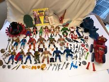 Vintage Mattel He-Man She-Ra Action Figure Weapons Parts Lot Vehicles MOTU Jewel