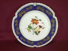 "#9 CHELSEA HOUSE K494 FLORAL DECORATIVE DINNER PLATE 10.75"" - COBALT/GOLD"