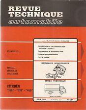 REVUE TECHNIQUE AUTOMOBILE 266 RTA 1968 CITROEN BELPHEGOR 350 370 450 DYANE 6