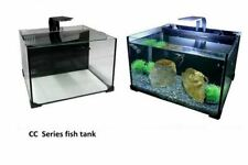 Glass Freshwater Saltwater All in One Nano Aquarium Kit W/ Back Filter System