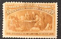 US Stamp Scott #239 Mint OG H 30 Cents 1893 Columbian Expo