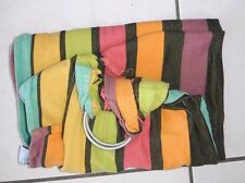 'Little Frog'  2 ring Sling Baby Carrier, BRIGHT STRIPE PATTERN, COTTON/BAWEINA