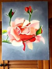 Original- One of a Kind- Oil on Canvas Painting-The Rose- Signed-COA-Listed Art