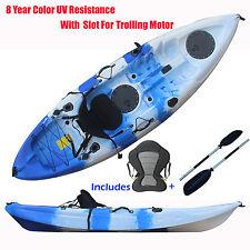 2.7M Single Kayak Sit-on canoe 5 Rod Holders With Trolling Motor Slot & Paddle