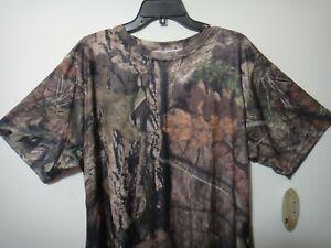 Mossy Oak Hunting Men Camo Short Sleeve Shirt Size XLG