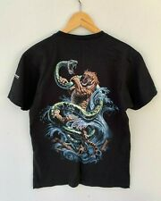 WILD PLANET unisex black tiger snake graphic t-shirt size XL made in Australia